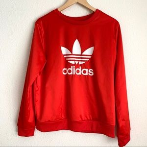 Adidas originals crew neck satin feeling sweater